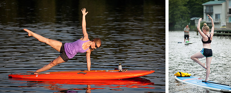 Yoga and ballet on paddle boards with Surf Reston