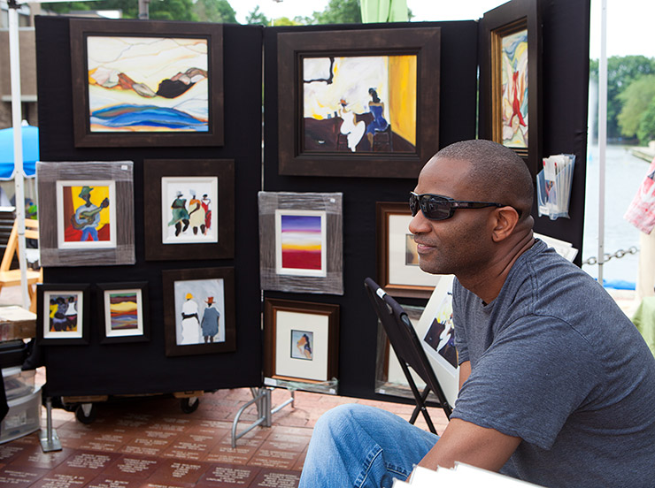 Rayhart, painter at the Reston Market at Lake Anne in Northern Virginia