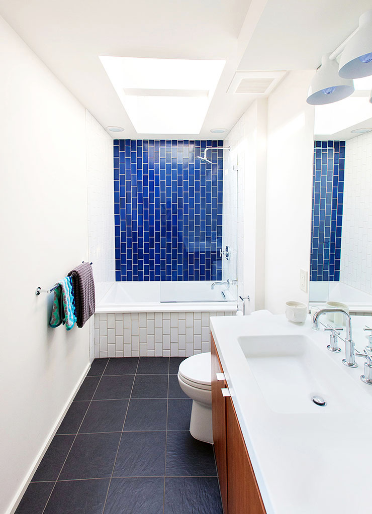 Before and after modern bathroom renovation