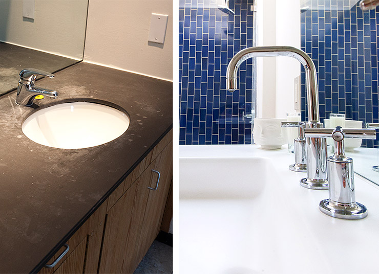 Before and after master bathroom modern renovation