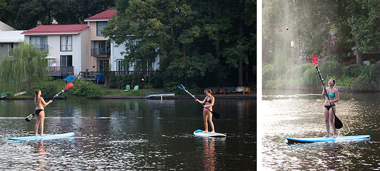 Paddle board lacrosse in Reston, Virginia