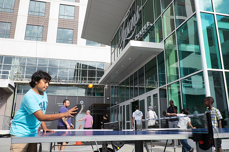 Ping pong at the Plaza at Tysons Corner Center