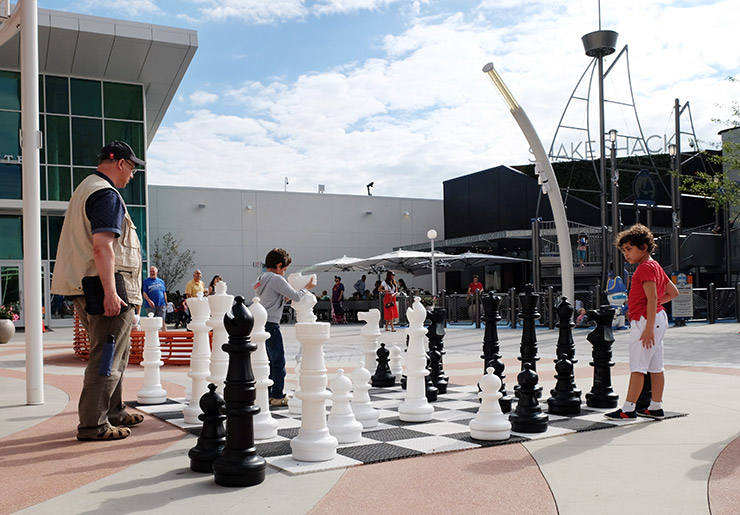 Chess and the Shake Shack at the Plaza at Tysons Corner Center