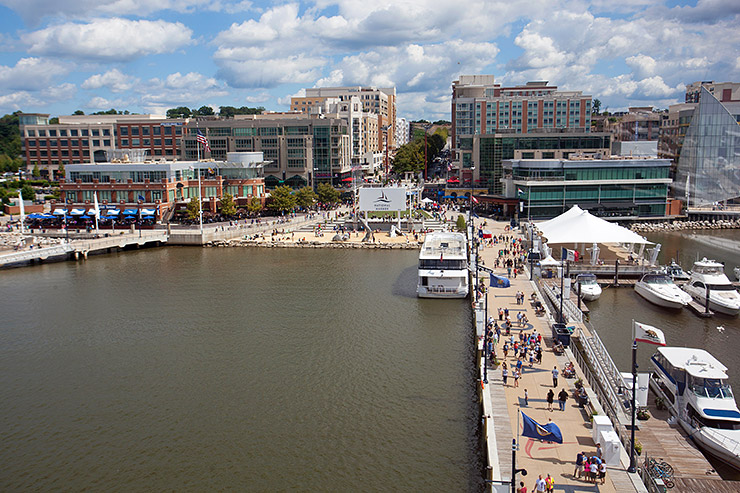The view from the Capital Wheel at National Harbor
