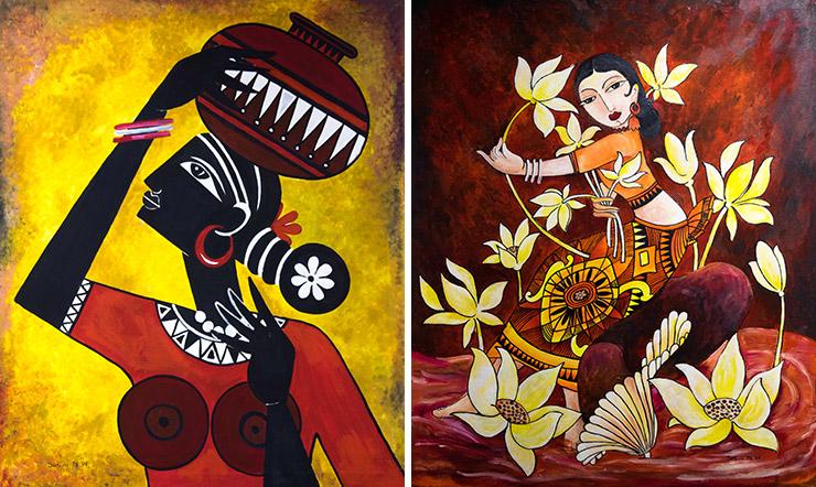 Reston Multicultural Festival art exhibit - Sasini Wickramatunga