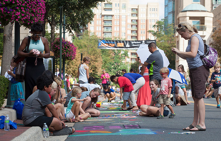 ChalkFest 2014 at Reston Town Center