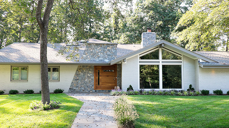 Mid-century modern house in Reston, Virginia