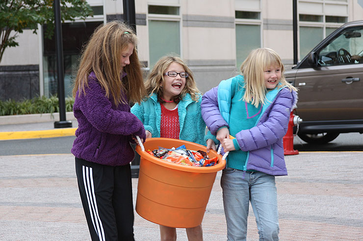 Halloween candy donations in Reston, Virginia