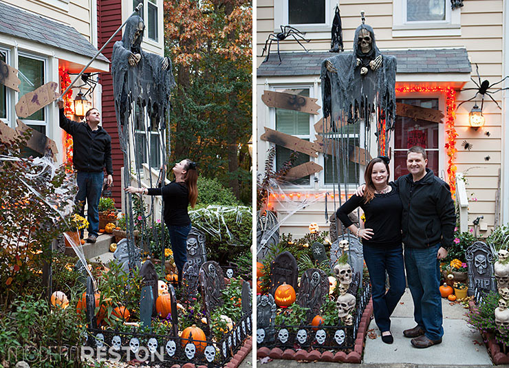 Halloween decorations in Reston, Virginia