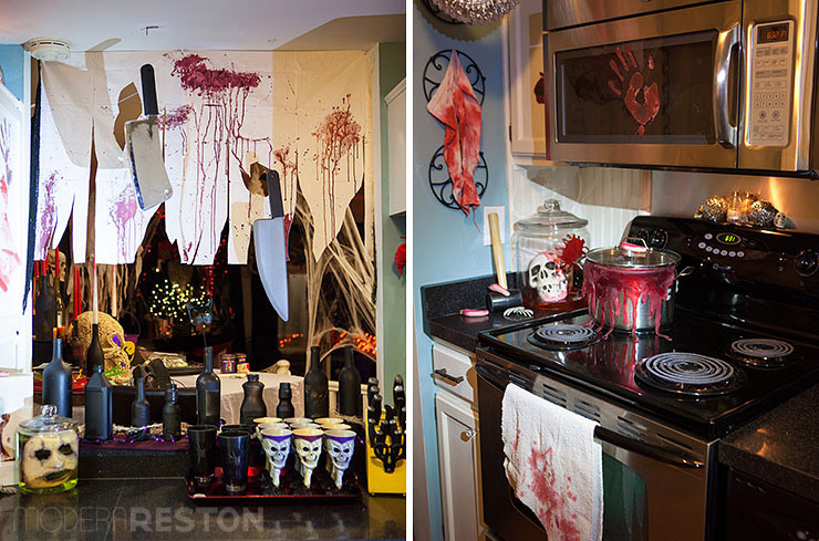 delightful Kitchen Halloween Decorations #4: Halloween-party-decorations-07