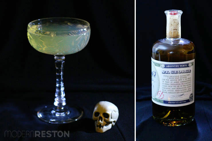 Halloween drinks - Death in the Afternoon absinthe and champagne cocktail