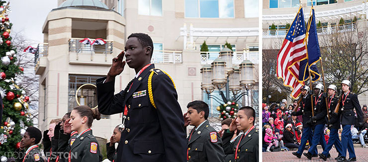 South Lakes High School Army JROTC at the Reston Holiday Parade 2014
