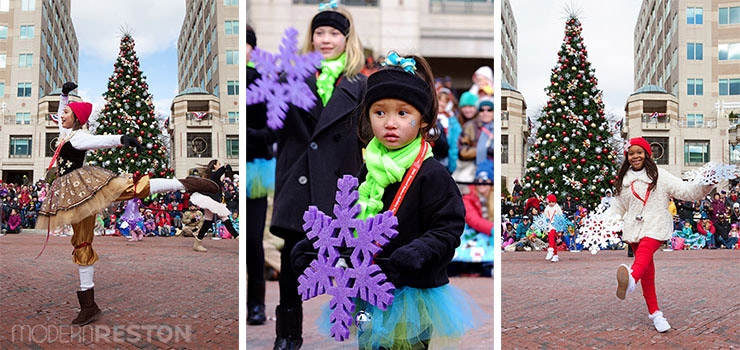 Children dancing in the Reston Holiday Parade