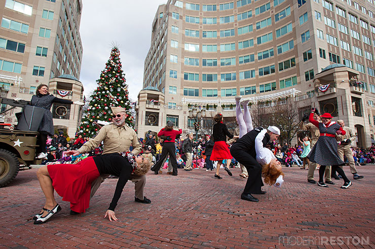 Swing dancers at the Reston Holiday Parade