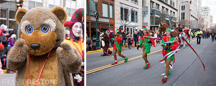 Bear and elves in the Reston Holiday Parade