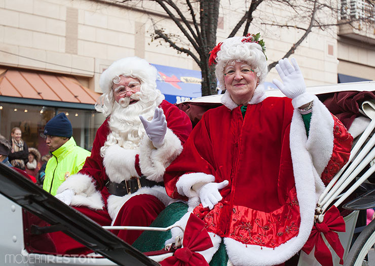 Santa Claus at the Reston Holiday Parade