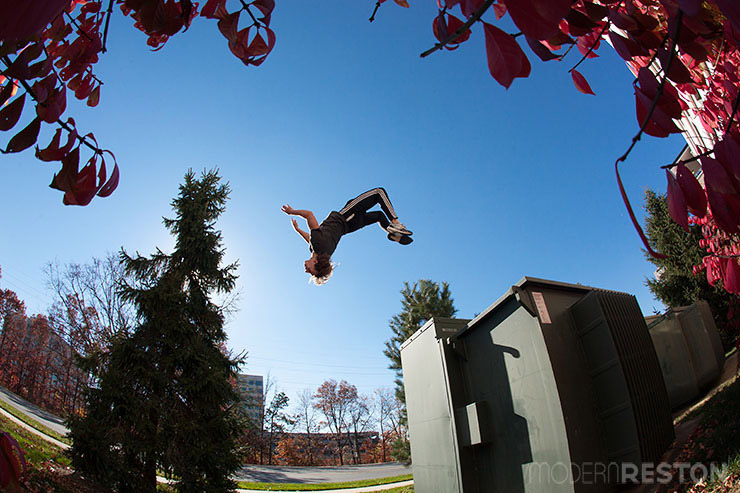 Omar Zaki parkour in Reston, VA