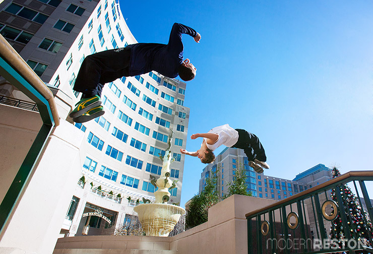 Parkour at Reston Town Center