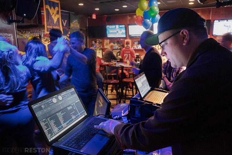 DJ John Coulter at Kalypso's Sports Tavern in Reston