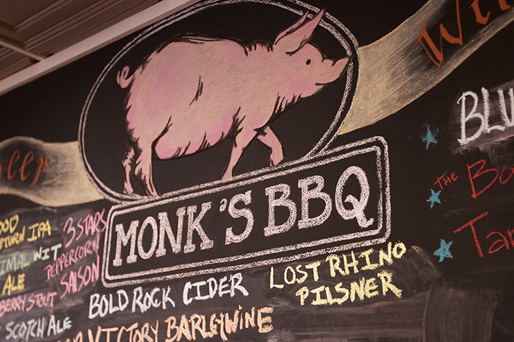 Monk's BBQ-where the Pope would eat and drink