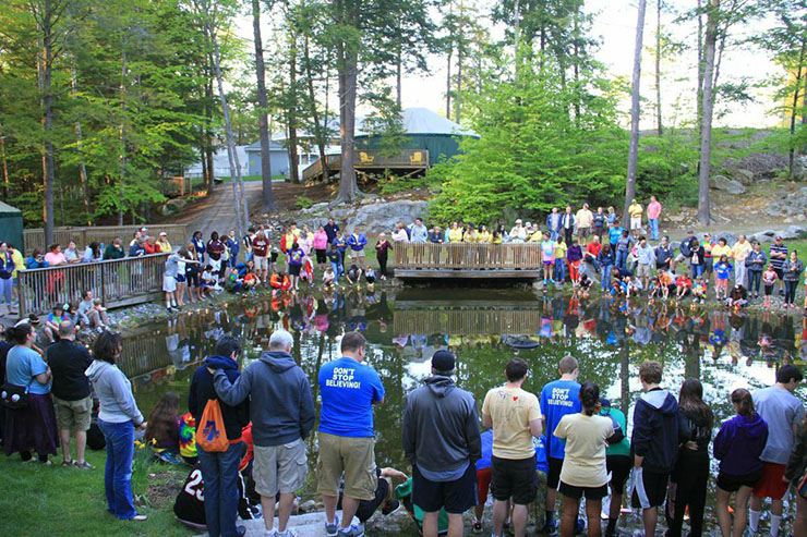 The Wish Boat launch at Camp Sunshine