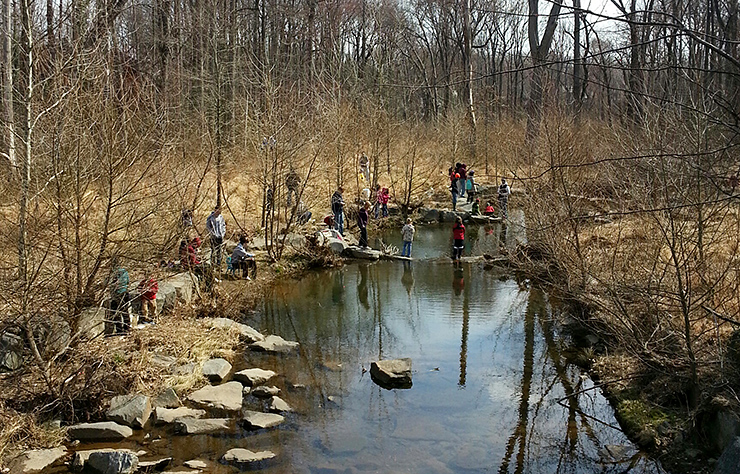 Kids Trout Fishing Day in Reston, Virginia
