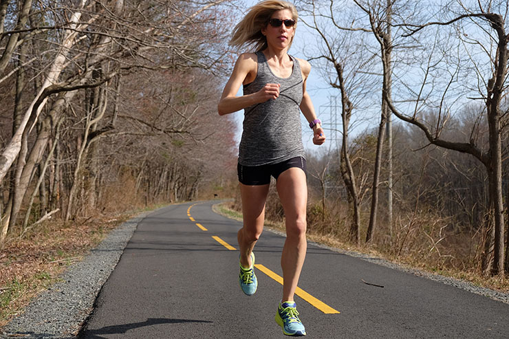 Running on the W&OD Trail in Reston, VA