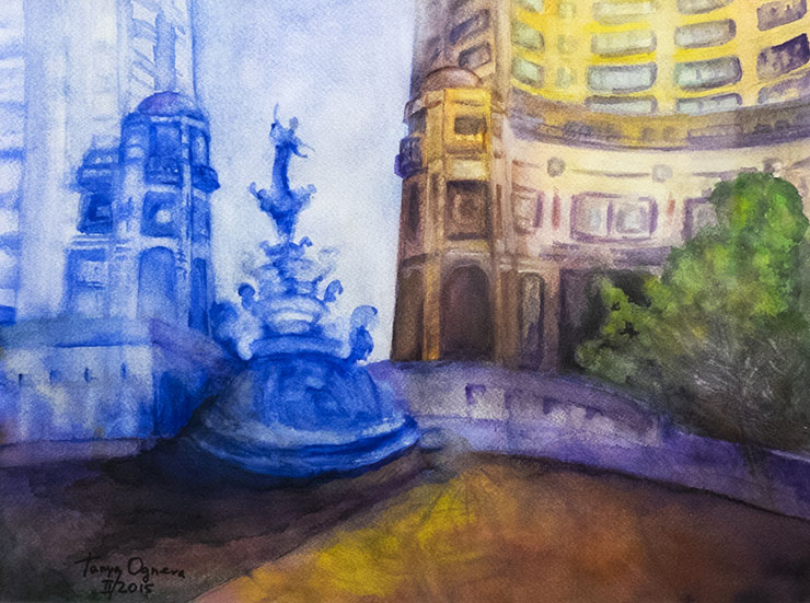 Reston-Town-Center-painting-by-Tanya-Ogneva