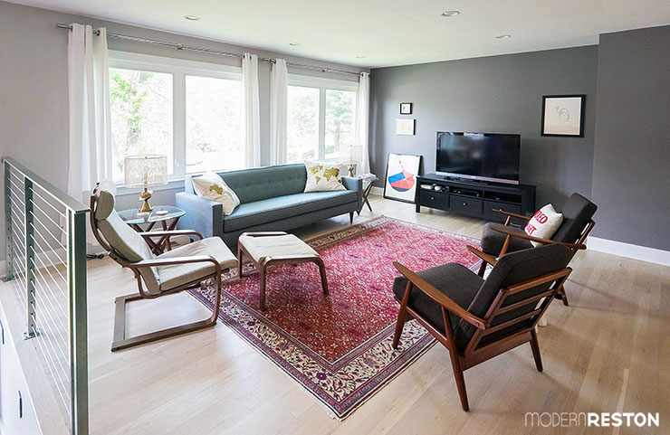 Home Tour: A Cramped Split-Level Transforms with Spacious, Mid ...