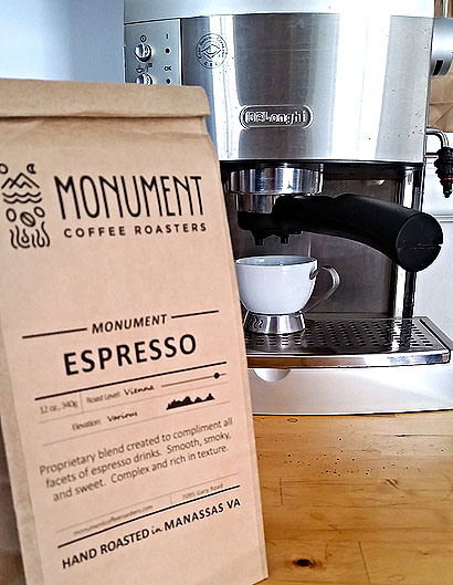 Monument Coffee Roasters espresso Manassas Northern Virginia Reston