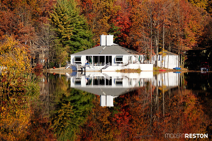 Reston Virginia fall foliage Lake Thoreau