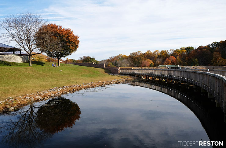 Reston Virginia fall foliage Lake Fairfax Park