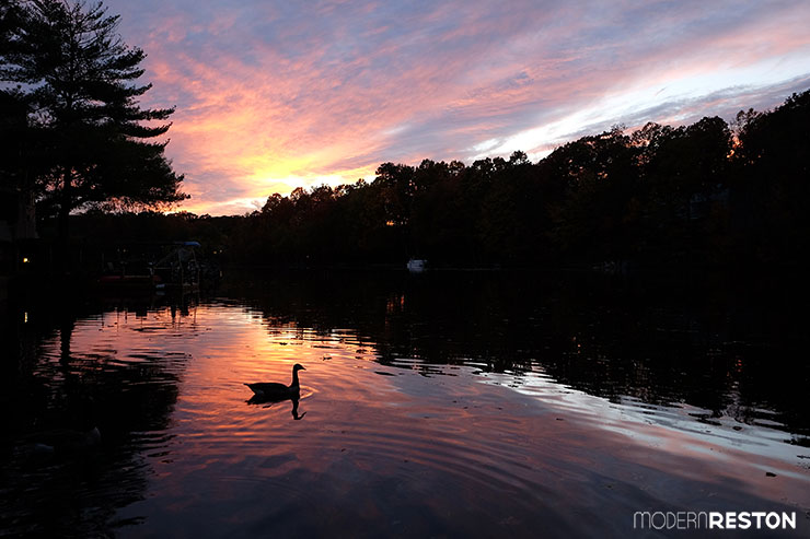 Reston Virginia Lake Thoreau sunset