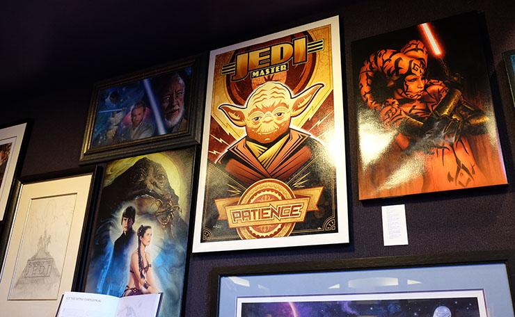 Star Wars art at ArtInsights film art gallery at Reston Town Center