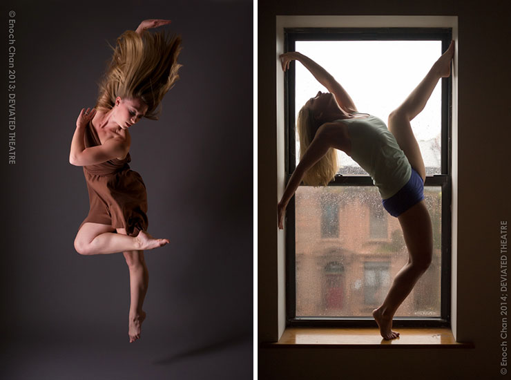 Reston dancer Dana Yasek with DEVIATED THEATRE. Photos by Enoch Chan.