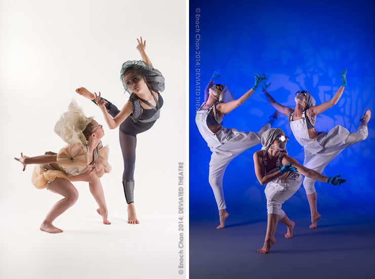 "DEVIATED THEATRE dancers in their original dance opera, ""creature."" Photos by Enoch Chan."