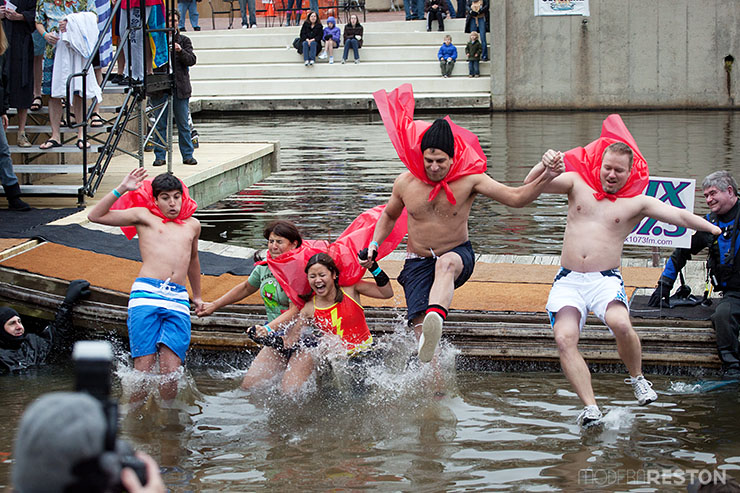 The Freezin' for a Reason Virginia Polar Dip at Lake Anne in Reston