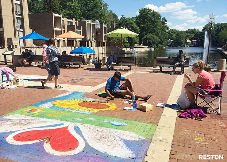 Lake-Anne-chalk-festival