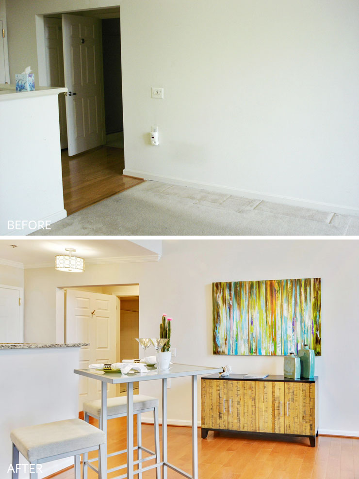 Reston-condo-staging-4-dining-room-before-after