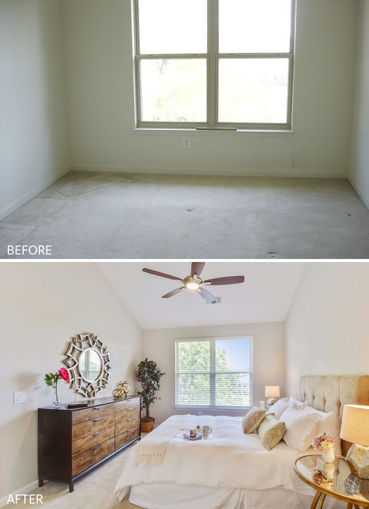 Reston-condo-staging-7-bedroom-before-after