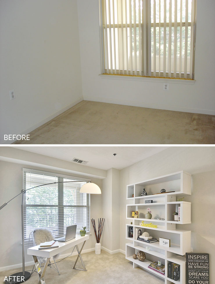 Reston-condo-staging-8-home-office-before-after