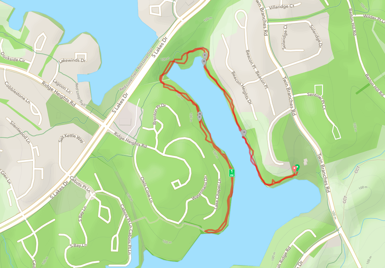 Lake Audubon trail map