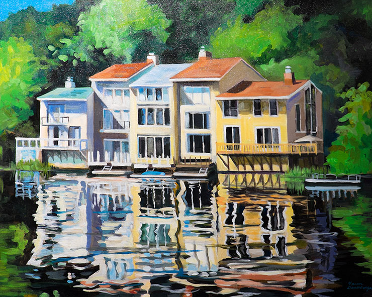 Waterview, Lake Anne by Karen Danenberger - League of Reston Artists