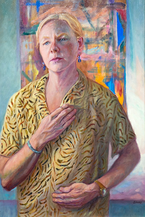 """Self Portrait with Arthritic Hands"" by Ruth Sievers - League of Reston Artists"