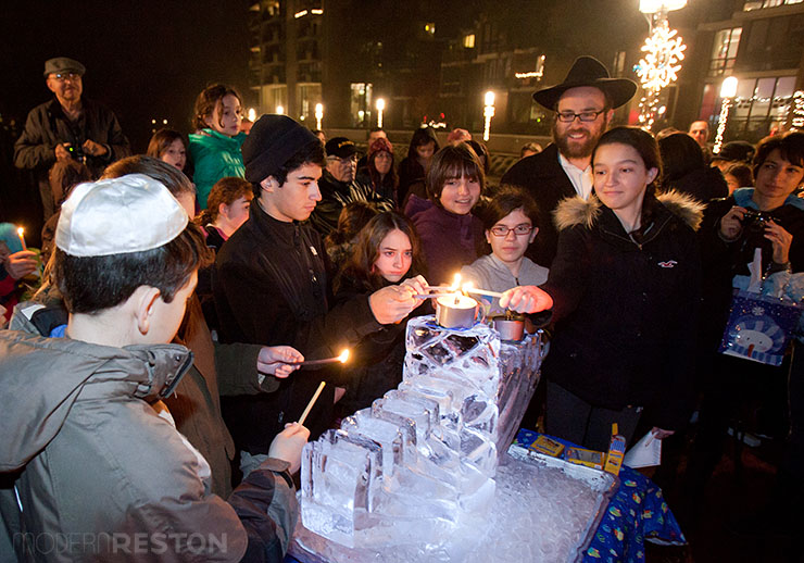Reston Chanukah celebration at Lake Anne