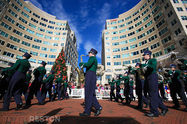 South Lakes High School Marching Band in the Reston Holiday Parade