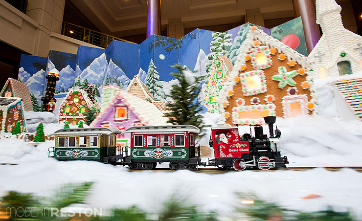 Reston Hyatt gingerbread village
