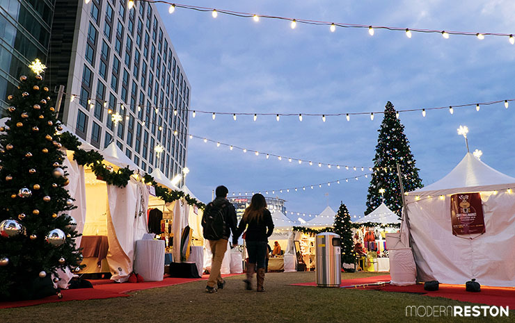 Tysons mall Christmas market