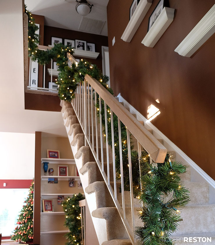 Reston home tour with Christmas decorations