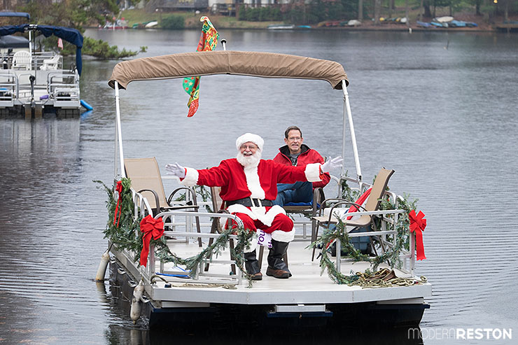 Santa at Lake Anne in Reston, Virginia
